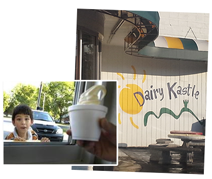 Dairy Kastle Ice Cream Cone, makes the kids happy